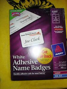 avery adhesive name badges labels 5395 ebay