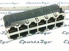 RJ-45 CAT5/5E/6 12 PORT JACK CONNECTOR shielded modular 8pin network ethernet