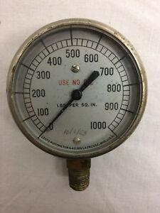 Vintage-1953-Motometer-Gauge-LaCrosse-WI-LBS-per-Square-Inch