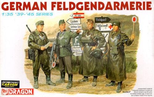 Dragon 1:35 6061: Deutsche Feldgendarmerie WWII - 4 Figuren
