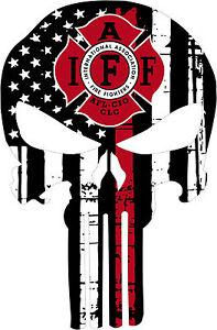 Thin Red Line Punisher Iaff Union Punisher Window Decal