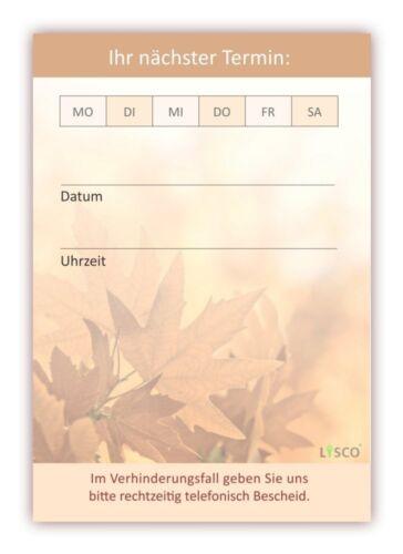 12 Stück Premium Terminblock Set Herbstlaub hochwertige vielseitige Terminblöcke