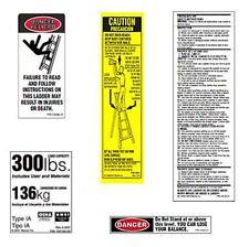 10 Pack 300lb Fiberglass Step Ladder Safety Labels Kit Werner