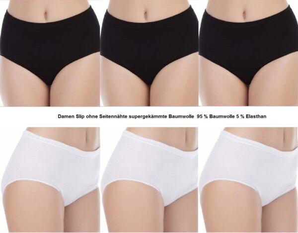 3,6,9,12 Pack Damen Slips Baumwolle Unterwäsche Taillenslips sehr gute Passform