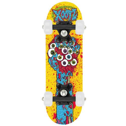 "XOOTZ 17/"" Children/'s Kids Mini Skateboard Double Kick Maple Fun Beginner Small"