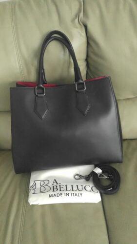 Italy A Leather bolso hombro Nwt red Black Tote de Bellucci Cross Body UqFwqg5x4