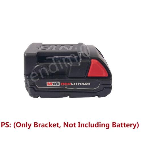 4 Pcs Milwaukee 18V M18 RED Slider Li-ion Battery Shelf Rack//Belt Buckle Black