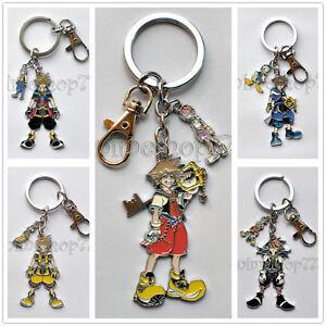Kingdom Hearts Ii 2 Sora Roxas Axel Keychain Key Chains