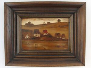 Oil-on-Board-Framed-Signed-Gorgeous-Oil-Painting-Landscape