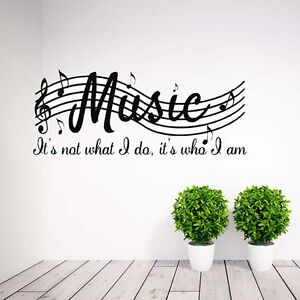 Image Is Loading Removable Music Motto Musical Notes Room Decor Art  Part 48