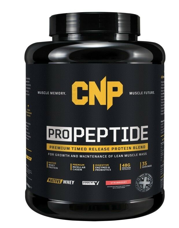 CNP Pro Peptide Whey Egg Protein Powder Casein & Egg Whey Blend 2.2kg Free P&P Strawberry 4448f0