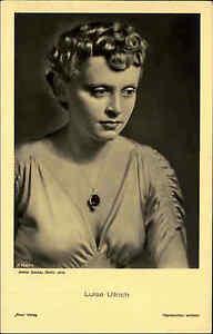 Schauspielerin-Kino-Buehne-Film-1940-LUISE-ULLRICH-alte-Portraet-AK-Ross-Verlag
