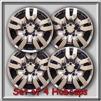 """4 16/"""" Silver Bolt On Nissan Altima hubcaps Fits 2009-2012 Altima Wheel Covers"""