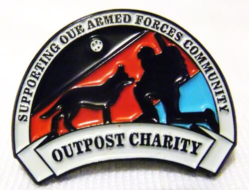 Outpost Charity Wristbands Armed Forces Charity Support Pin Badges Stickers