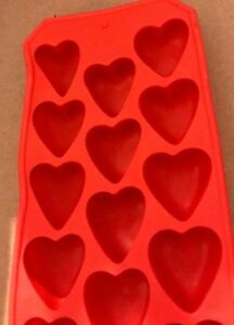 Red Heart Ice Cube Tray Made in Spain NEW