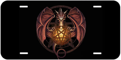 Dragon Pentagram Car Auto Tag Novelty License Plate