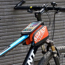 Orange Bike Bicycle Front Tube Bag Frame Pannier Touch Pouch For iphone 7plus