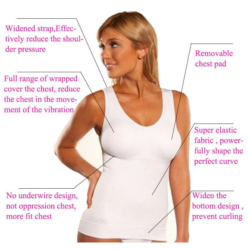 76f4d5e7ed561 Seamless Tummy Control Body Shaper Vest Underwear Slimming Brief Boob Tube  Bra 6 6 of 12 ...