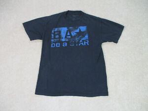 WWE-Shirt-Erwachsene-Large-schwarz-blau-ein-Stern-sein-WWF-Wrestling-Ringer-Baumwolle-Herren