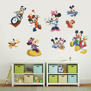 Image Is Loading Lovely Mickey Mouse Minnie Wall Decals Vinyl Sticker