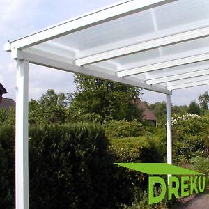 Details zu Terrassendach Pergola Überdachung Terrassenüberdachung ALU 16 mm  PC Stegplatten