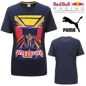 Puma-RBR-tee-shirt-Homme-Red-Bull-Racing-Formule-1-Motorsport-Bleu-Marine-Top-Graphique