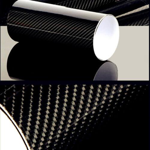 """20/""""x 80/"""" Premium 5D High Gloss Black Carbon Fiber Vinyl Wrap Bubble Air Release"""
