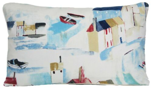 """Ives Cushion Cover Prestigious Printed Fabric Houses Boats 16/"""" 18/"""" 20/"""" St"""
