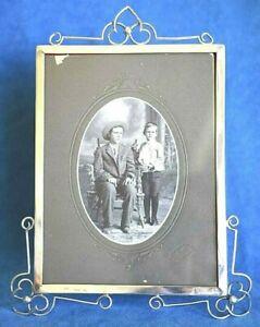 Large Art Nouveau Antique 1903 Birmingham Hallmark Sterling Silver Picture Frame