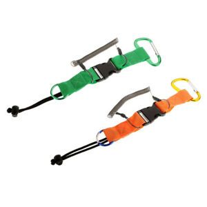 Quick Release Coil Lanyard with Clip Strong Spring Dive Safety Leash Rope
