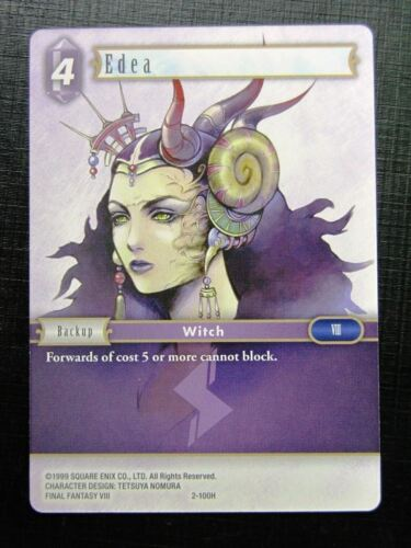 Final Fantasy Card # 1J72 EDEA 2-100H