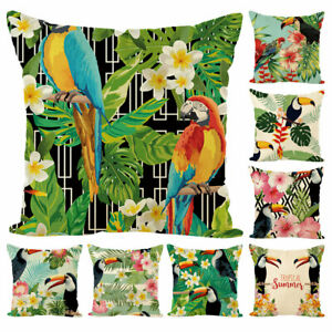Am-Tropical-Forest-Parrot-Throw-Pillow-Case-Cushion-Cover-Sofa-Bed-Home-Decor-I