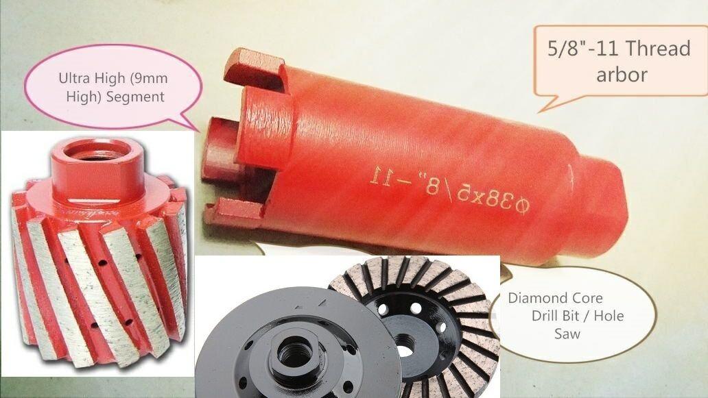 2 Inch Diamond Core Drill Bit Zero Tolerance Grinding Drum Cup Concrete Granite
