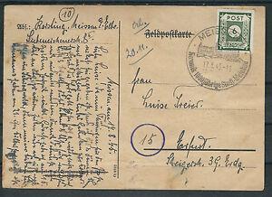 Sbz saxe mi. Nº 43bi a comme EF sur lui-même gebastelter timbres carte à partir de Meissen-ter Feldpostkarte ab Meissenafficher le titre d`origine gZyQcZxB-07163520-782453961