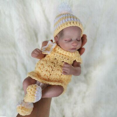 10 Full Body Silicone Vinyl Reborn Baby Doll Waterproof Bath Mini Accompany Toy Ebay