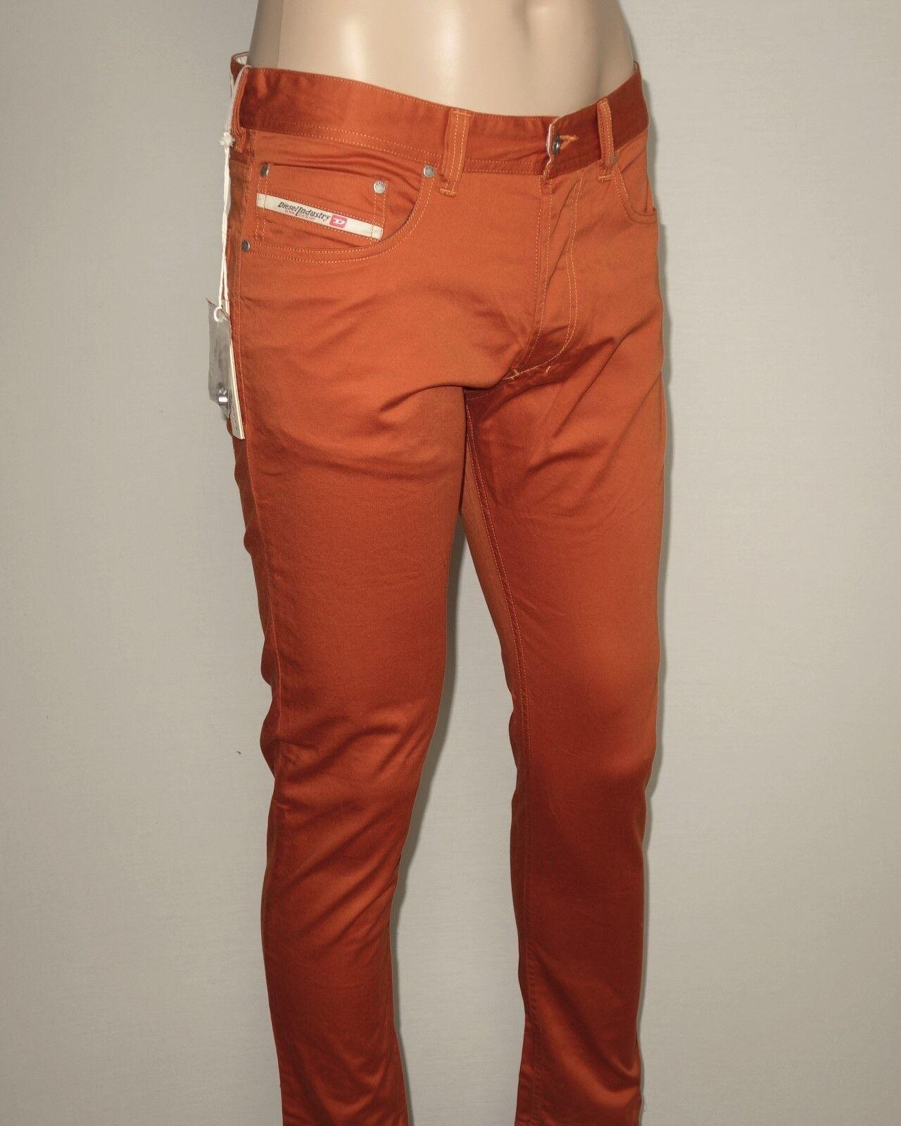 NEW Diesel TEPPHAR-A Trousers in orange W26xL30 Slim-Carred MSRP