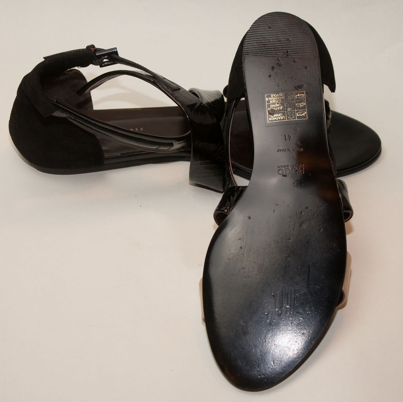 Último gran descuento HUGO BOSS ♥   ♥ Schuhe ♥ Sandalen ♥ Gr. 41 ♥ *TOPst* ♥ Lack Leder ♥ Hugo Boss ♥