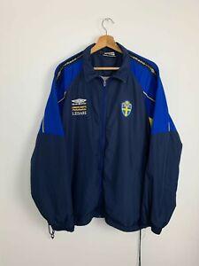 Veste De Football Suède Vintage Sweden Football Jacket