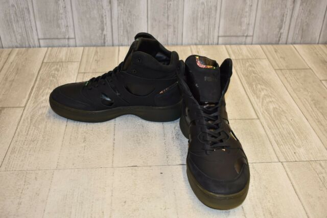 e6d9ecd2513 Alexander McQueen by PUMA McQ Move Mid Men Leather Black Basketball Shoe 9