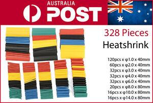 328Pcs-Assorted-8-Sizes-Heat-Shrink-Set-Kit-3mm-4mm-6mm-8mm-10mm-Heatshink-AU