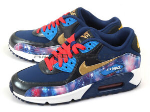 big sale 769ac 3eac9 Image is loading Nike-Air-Max-90-Premium-Leather-GS-Kids-