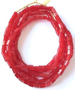 Fine-Vintage-Czech-Crystal-Russian-cut-Red-Faceted-Glass-African-Trade-beads
