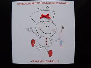 luxury handmade congratulations graduating as a nurse card can be