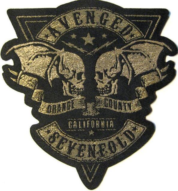 "AVENGED SEVENFOLD AUFNÄHER / PATCH # 13 ""ORANGE COUNTY CALIFORNIA"" - 10x9cm"