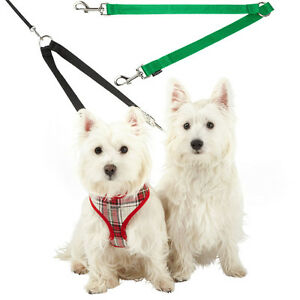 Bunty-Double-Dog-Pet-Lead-Leash-Splitter-Coupler-with-Clip-for-Collar-Harness
