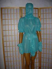ADULT Nylon Kleid Baby Dienstmädchen Zofenkleid Nachkleid Transperant 4 teilig