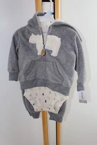 90a7b71af9ba Carter s Carter Boys NWT Size 6 Months Bear Gray Jacket Outfit 3PC ...