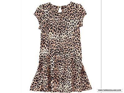 NWT Gymboree Baby Toddler Girl Catastic Tan Leopard Print Dress