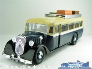CITROEN-T45-Bus-modello-FRANCIA-1934-1-43-Taglia-IXO-HACHETTE-Paris-Blue-Crema-T34Z