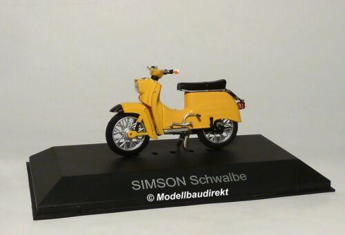 Simson KR51 Schwalbe Moped Gelborange oder Blau 1:24 IXO 24106 NEU /&OVP